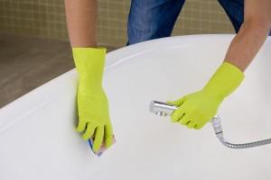 rengöring av hela badrummet